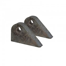 19mm Weld on tags Pair