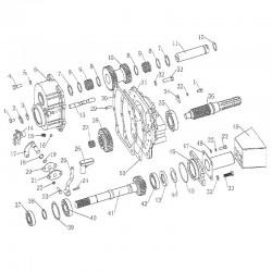 DF354 PTO control handle...