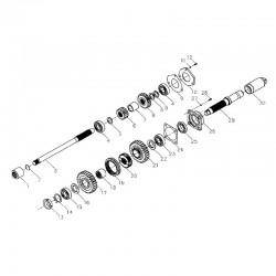 PTO driving gear (540r/min)