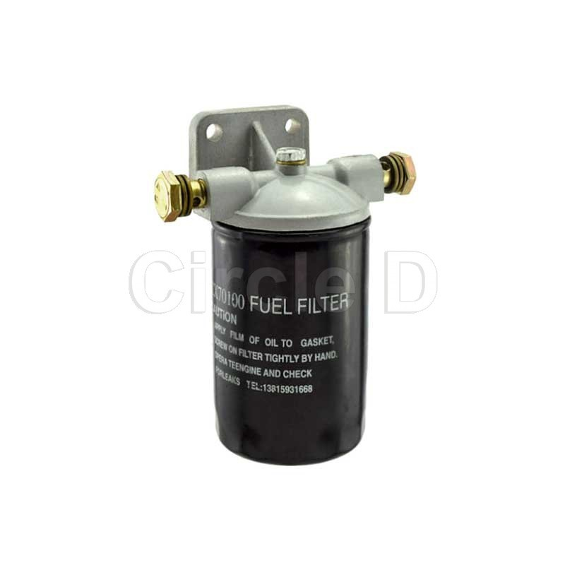 fuel filter assembly to suit jiangdong ty395, ty3100, jd490, jd495, jd4100  and jd4102 diesel engines  details: m14 banjo inlet and outlet  cx70100 spin  on